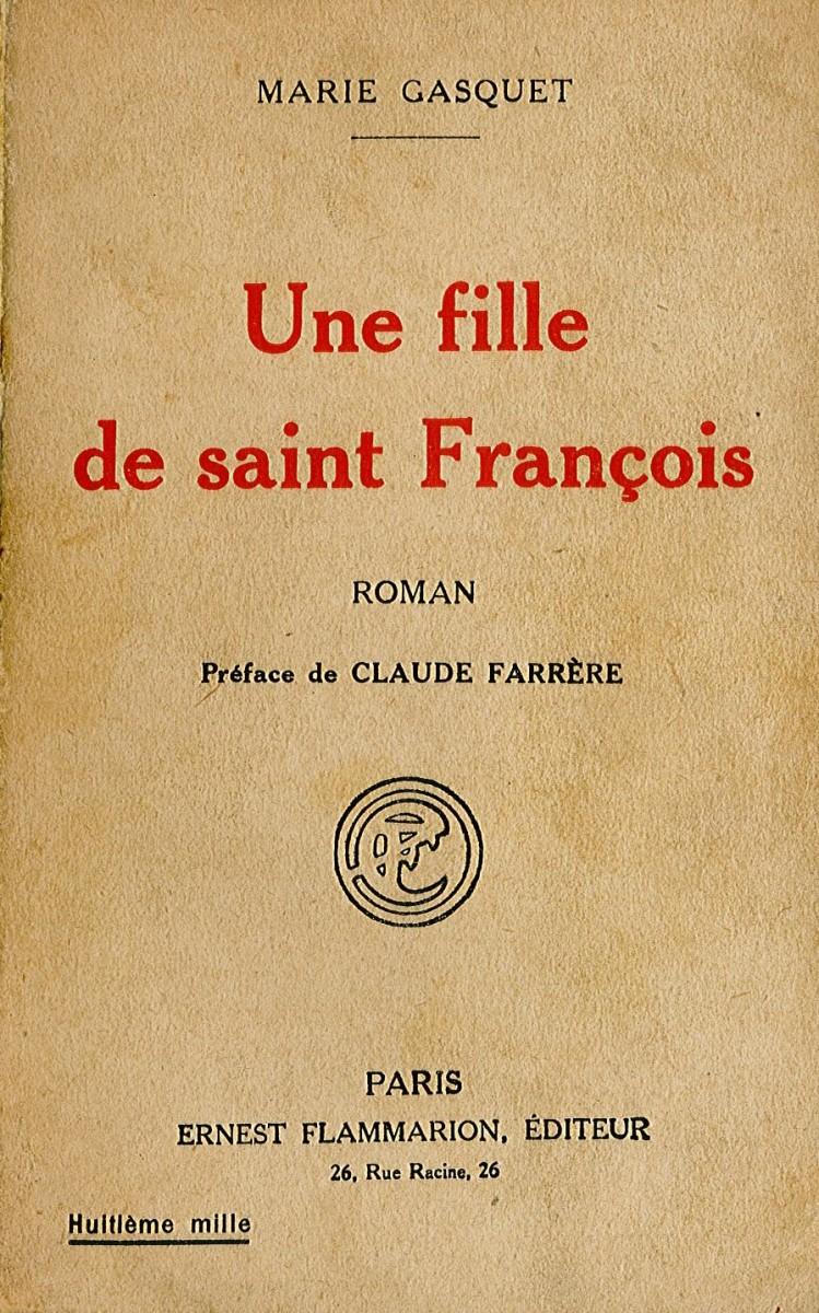 Fille de saint Françoise (Une) Couverture du livre
